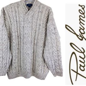 PAUL JAMES 100% Pure Wool Fishermen Cable Sweater